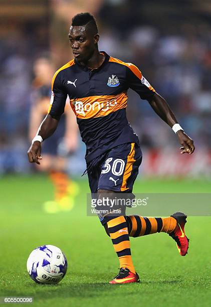 Christian Atsu of Newcastl United in action during the Sky Bet Championship match between Queens Park Rangers and Newcastle United at Loftus Road on...