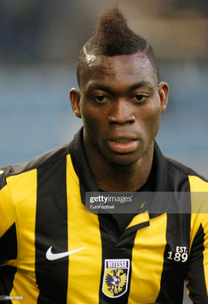 <a gi-track='captionPersonalityLinkClicked' href=/galleries/search?phrase=Christian+Atsu&family=editorial&specificpeople=8284773 ng-click='$event.stopPropagation()'>Christian Atsu</a> of Vitesse Arnhem during the Dutch Eredivisie match between Vitesse Arnhem and Go Ahead Eagles at GelreDome on April 27, 2014 in Arnhem, Netherlands.