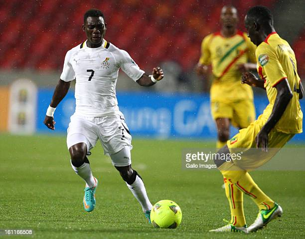 AFRICA FEBRUARY 09 Christian Atsu Twasam of Ghana and Foussyni Diawara of Mali during the 2013 Orange African Cup of Nations 3rd and 4th PlayOff...