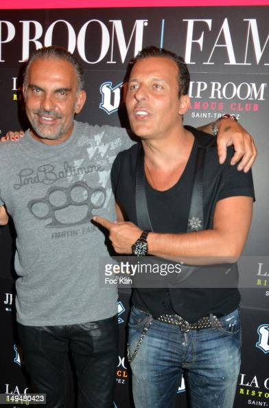 Christian Audigier and Jean Roch Pedri attend the Christian Audigier 'Lord of Baltimore' Party at the VIP Room Saint Tropez on July 28 Saint Topez...