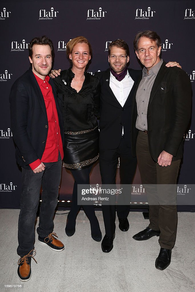 Christian Awe, Jenny Falckenberg, Kai Rose and Klaus Dahm attend Flair Magazine Party at Pariser Platz 4 on January 15, 2013 in Berlin, Germany.