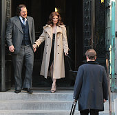 Christian Bale and Amy Adams are seen filming 'American Hustle' on May 17 2013 in Boston Massachusetts