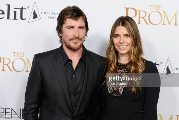 Christian Bale and Sibi Blazic arrive to the Los Angeles premiere of 'The Promise' at TCL Chinese Theatre on April 12 2017 in Hollywood California