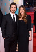Christian Bale and Sibi Blazic attend the EE British Academy Film Awards 2014 at The Royal Opera House on February 16 2014 in London England