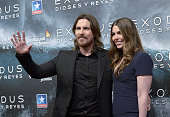 Christian Bale and Sibi Blazic attend the 'Exodus Gods And Kings' premiere at Kinepolis Cinema on December 4 2014 in Madrid Spain