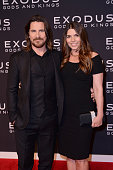 Christian Bale and Sibi Blazic attend the 'Exodus Gods And Kings' New York premiere at the Brooklyn Museum on December 7 2014 in New York City