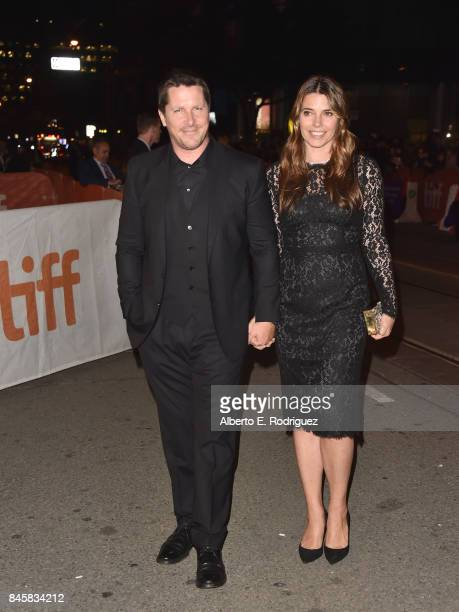 Christian Bale and Sibi Blazic attend the 'Hostiles' premiere during the 2017 Toronto International Film Festival at Princess of Wales Theatre on...