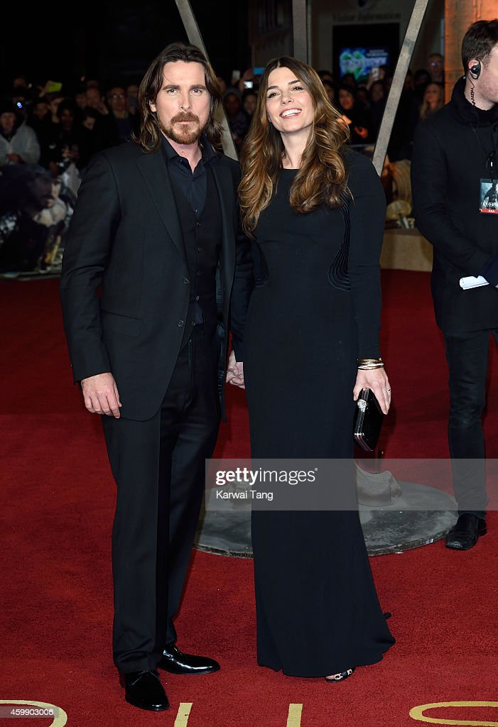 Christian Bale and Sibi Blazic attend the World Premiere of 'Exodus Gods and Kings' at Odeon Leicester Square on December 3, 2014 in London, England.