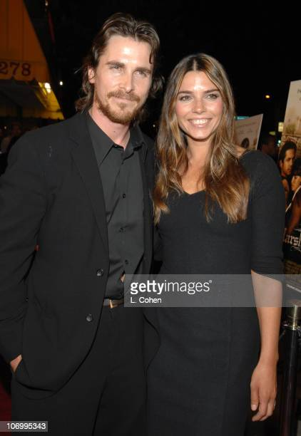 Christian Bale and wife Sibi Bale during 'Harsh Times' Los Angeles Premiere Red Carpet at Crest Theater in Westwood CA United States