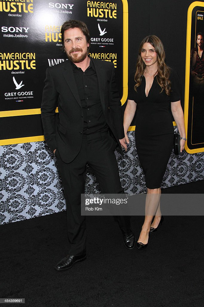 <a gi-track='captionPersonalityLinkClicked' href=/galleries/search?phrase=Christian+Bale&family=editorial&specificpeople=239518 ng-click='$event.stopPropagation()'>Christian Bale</a> and wife Sibi Blazic attend the 'American Hustle' screening at Ziegfeld Theater on December 8, 2013 in New York City.