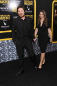 Christian Bale and wife Sibi Blazic attend the 'American Hustle' screening at Ziegfeld Theater on December 8 2013 in New York City