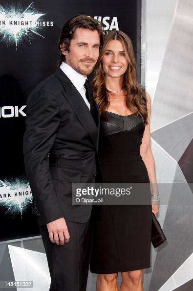 Christian Bale and wife Sibi Blazic attend 'The Dark Knight Rises' world premiere at AMC Lincoln Square Theater on July 16 2012 in New York City