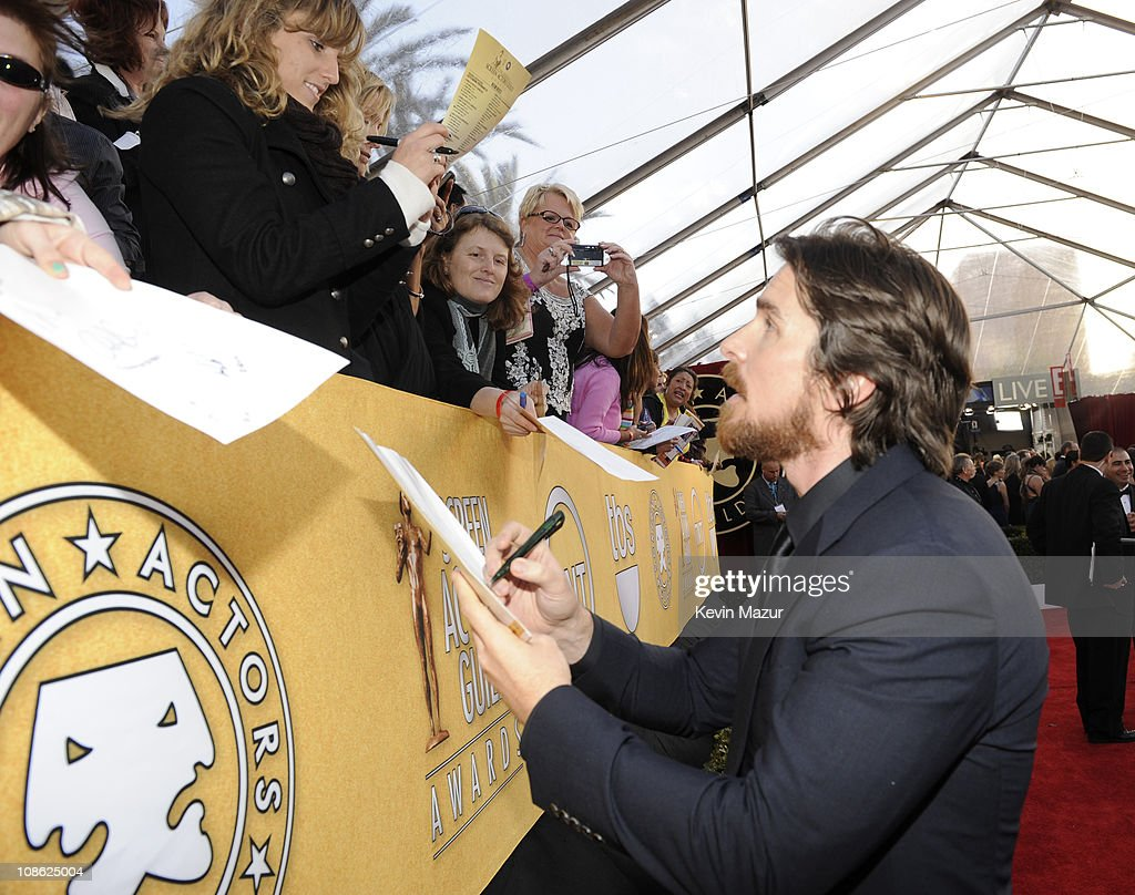 Christian Bale arrives at the TNT/TBS broadcast of the 17th Annual Screen Actors Guild Awards held at The Shrine Auditorium on January 30 2011 in Los...