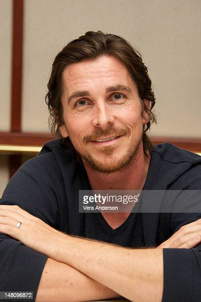 Christian Bale at 'The Dark Knight Rises' Press Conference at The Beverly Hilton Hotel on July 8 2012 in Beverly Hills California