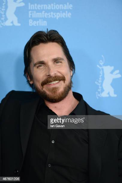 Christian Bale attends the 'American Hustle' photocall during 64th Berlinale International Film Festival at Grand Hyatt Hotel on February 7 2014 in...