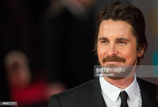 Christian Bale attends the EE British Academy Film Awards 2014 at The Royal Opera House on February 16 2014 in London England