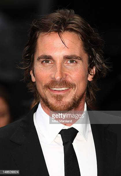 Christian Bale attends the European premiere of Dark Knight Rises at Odeon Leicester Square on July 18 2012 in London England
