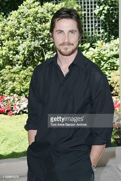 Christian Bale during 'Batman Begins' Paris Photocall at Bristol Hotel in Paris France