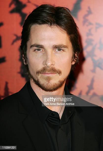 Christian Bale during 'Batman Begins' Paris Premiere in Paris France