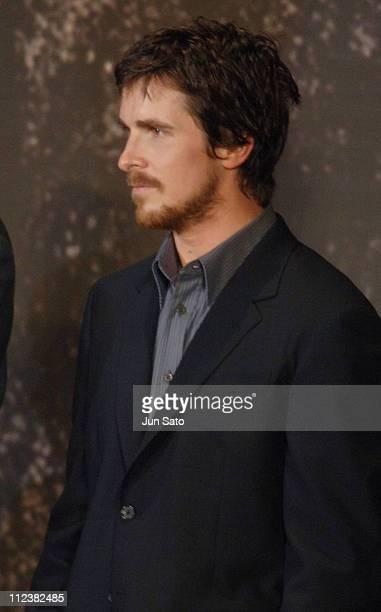 Christian Bale during 'Batman Begins' Tokyo Premiere Inside at Roppongi Hills in Tokyo Japan