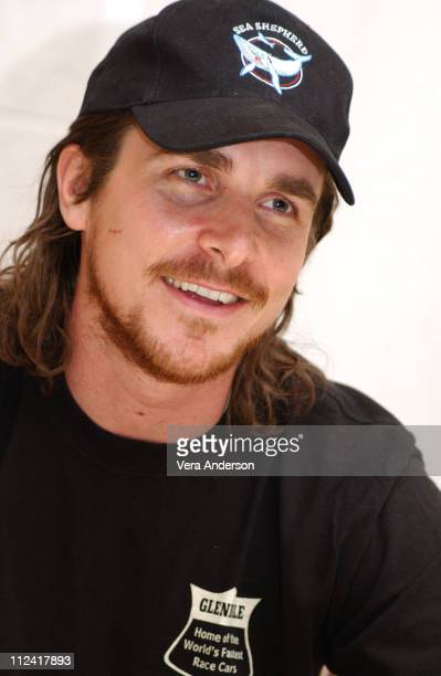 Christian Bale during 'The Machinist' Press Conference with Christian Bale and Brad Anderson at Four Seasons Hotel in Beverly Hills California United...