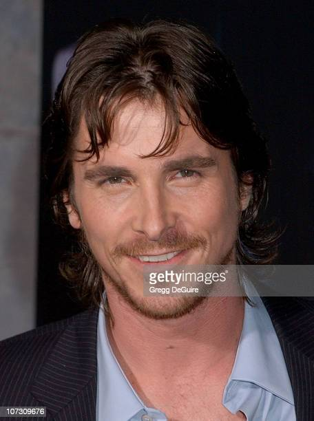 Christian Bale during 'The Prestige' World Premiere Arrivals at El Capitan Theatre in Hollywood California United States