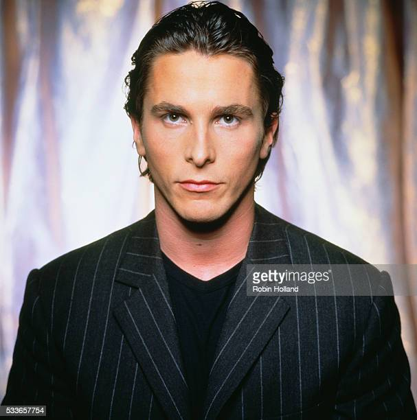 Christian Bale in Pinstripe Blazer