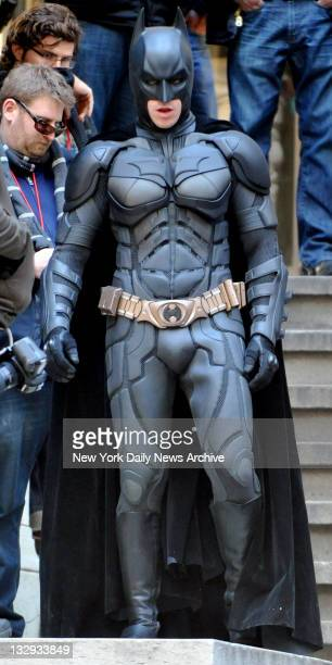 Christian Bale is Batman on the set of 'Dark Knight Rises' Richard Corkery/NY Daily News via Getty Images