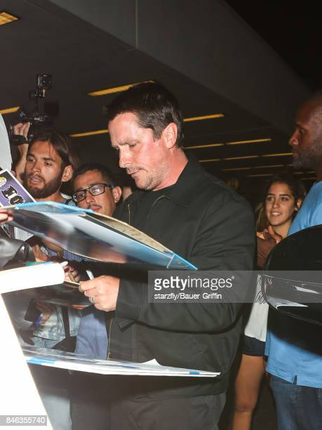 Christian Bale is seen at 'Los Angeles International Airport' on September 12 2017 in Los Angeles California