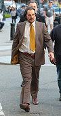Christian Bale is seen filming 'American Hustle' on May 17 2013 in Boston Massachusetts