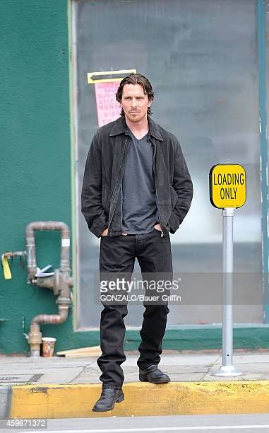 Christian Bale is seen on set of 'Knight of Cups' on June 04 2012 in Los Angeles California