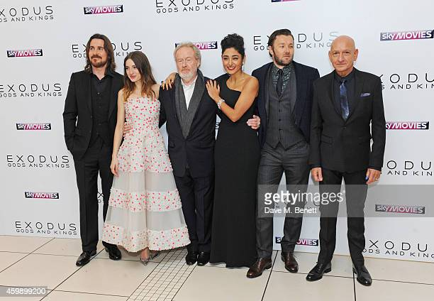 Christian Bale Maria Valverde Sir Ridley Scott Golshifteh Farahani Joel Edgerton and Sir Ben Kingsley attend the World Premiere of 'Exodus Gods and...