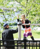 Christian Bale with daughter Emmeline are seen on May 13 2013 in Boston Massachusetts