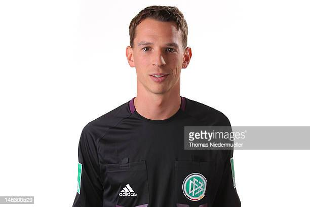 Christian Bandurski poses during the German Football Association photocall at the Dekra Congress Center on July 12 2012 in Altensteig Germany