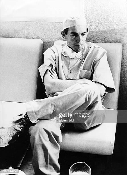 Christian Barnaard Mediziner Südafrika Portrait nach einer Operation 1969