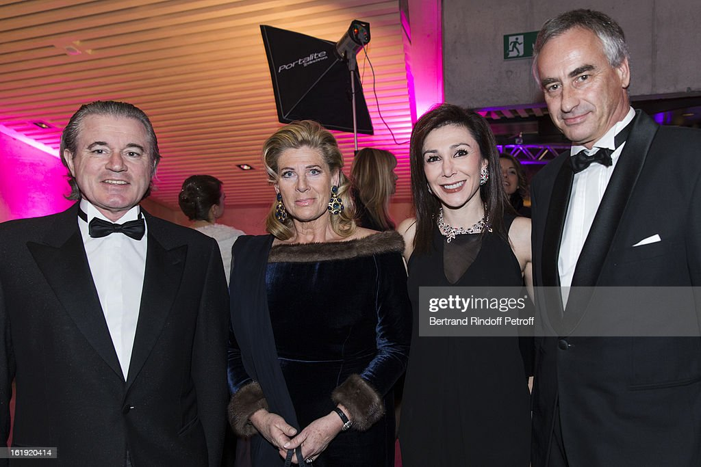 Christian Barras, committee member of the 'Nuit des Neiges' foundation, Princess Lea of Belgium, acting as honorary chairperson of the event, Linda Barras, President of the event, and Juan Le Clercq attend the 30th edition of 'La Nuit Des Neiges' Charity Gala on February 16, 2013 in Crans-Montana, Switzerland.