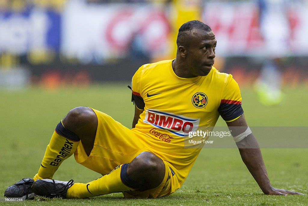 Christian Benitez of America reacts during a Clausura 2013 Liga MX match against America at Azteca Stadium on February 02, 2013 in Mexico City, Mexico.