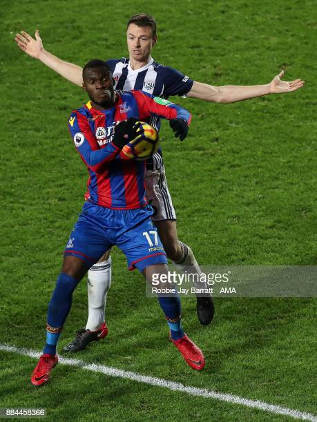 Christian Benteke of Crystal Palace and Jonny Evans of West Bromwich Albion during the Premier League match between West Bromwich Albion and Crystal...