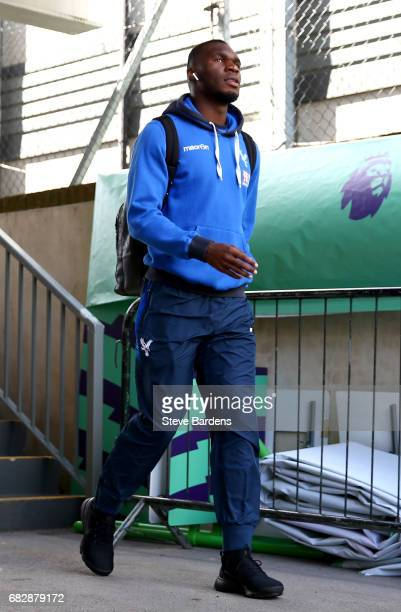Christian Benteke of Crystal Palace arrives at the stadium prior to the Premier League match between Crystal Palace and Hull City at Selhurst Park on...