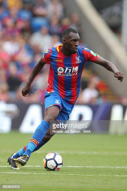 Christian Benteke of Crystal Palace during the Premier League match between Crystal Palace and Huddersfield Town at Selhurst Park on August 12 2017...