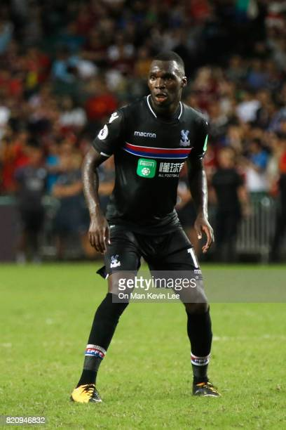 Christian Benteke of Crystal Palace FC in action during the Premier League Asia Trophy match between West Bromwich Albion FC and Crystal Palace FC on...