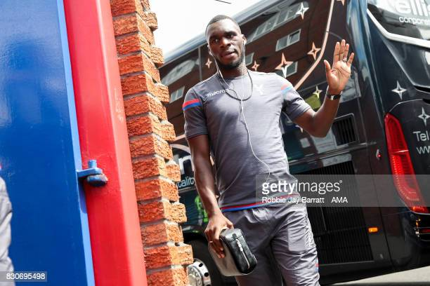 Christian Benteke of Crystal Palace prior to the Premier League match between Crystal Palace and Huddersfield Town at Selhurst Park on August 12 2017...