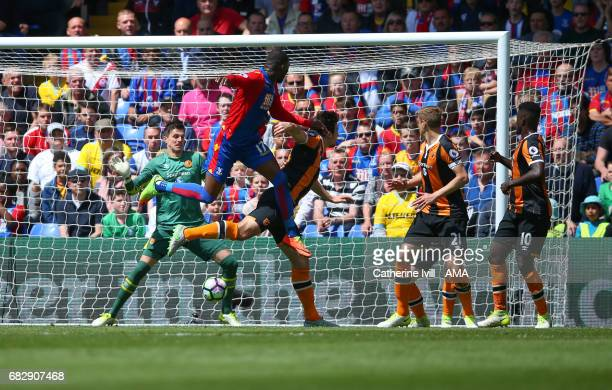 Christian Benteke of Crystal Palace scores a goal to make it 20 during the Premier League match between Crystal Palace and Hull City at Selhurst Park...