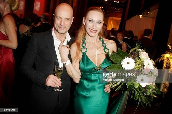 Christian Berkel and Andrea Sawatzki attend the Goldene Kamera 2010 Award at the Axel Springer Verlag on January 30 2010 in Berlin Germany