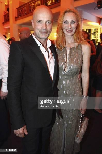 Christian Berkel and wife Andrea Sawatzki attend the Lola German Film Award 2012 Party at FriedrichstadtPalast on April 27 2012 in Berlin Germany