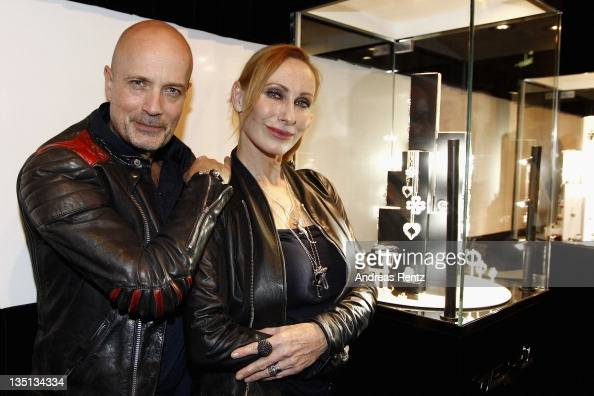 Christian Berkel and wife Andrea Sawatzki attend Thomas Sabo launch party at Goya club on December 6 2011 in Berlin Germany