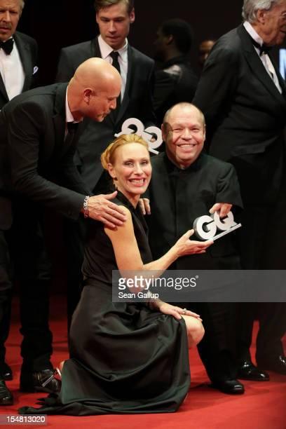 Christian Berkel Andrea Sawatzki and Thomas Quasthoff attend the GQ Men of the Year Award at the Komische Oper on October 26 2012 in Berlin Germany