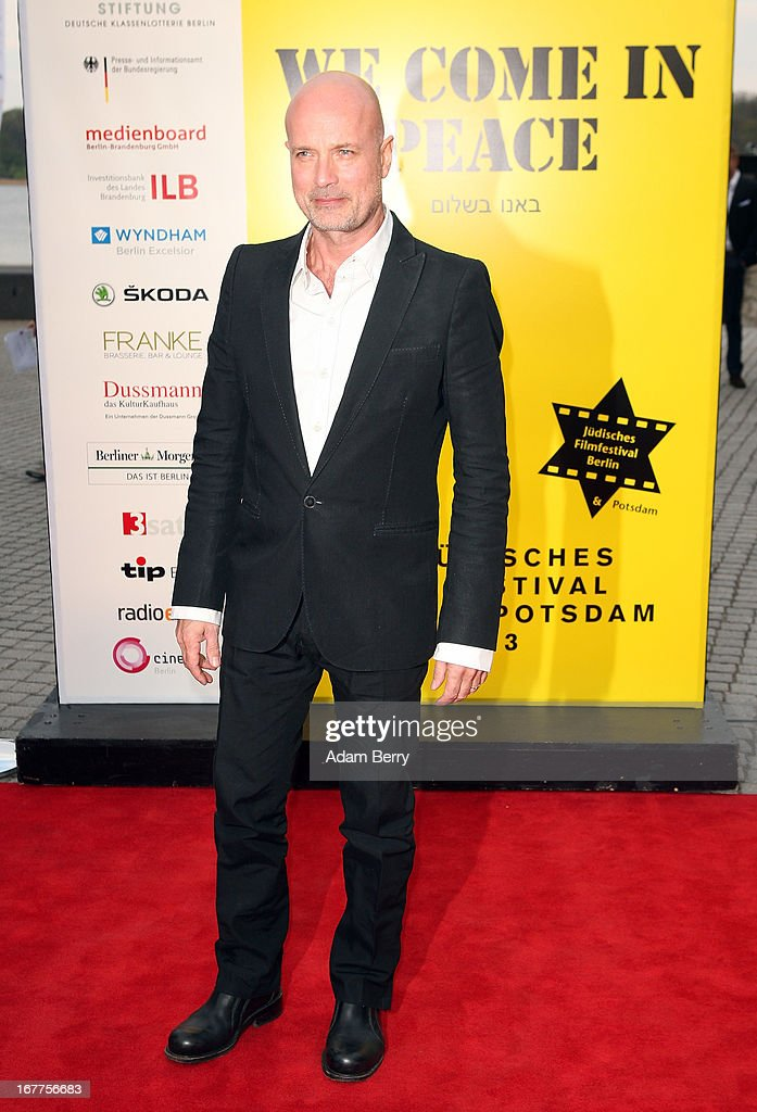 <a gi-track='captionPersonalityLinkClicked' href=/galleries/search?phrase=Christian+Berkel&family=editorial&specificpeople=235949 ng-click='$event.stopPropagation()'>Christian Berkel</a> arrives for the opening of the 19th Jewish Film Festival Berlin & Potsdam on April 29, 2013 in Potsdam, Germany. The festival was founded in 1995 on the 50th anniversary of the end of World War II.