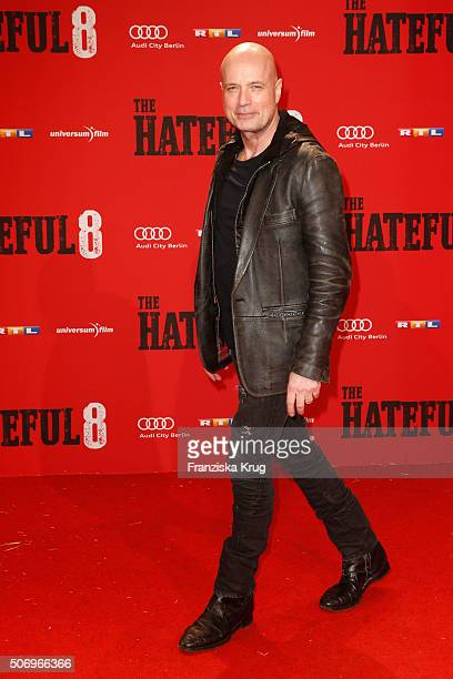Christian Berkel attends the premiere of 'The Hateful 8' at Zoo Palast on January 26 2016 in Berlin Germany