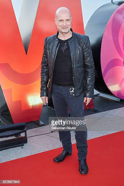 Christian Berkel is seen during the interactive exhibition 'Discover Mexico' at Washingtonplatz on April 20 2016 in Berlin Germany The exhibition...